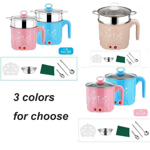 best selling 220V Mini 1.8L Electric Skillet Noodles Rice Cooker Thermal Insulation Cooking Pot Pan Container Electric Heating Lunchbox1