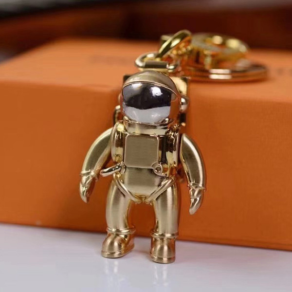 3color Spaceman Key Chain Accessories Fashion Car Designer Key Chains Accessories Men and Women Pendant Box Packaging Keychains