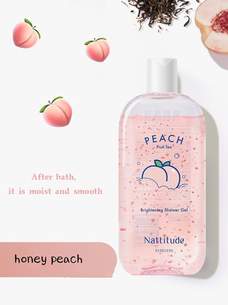 best selling Amsidai Natural Oolong peach flavor has a long smooth glossy whitening moisturizing shower gel emulsion for women.
