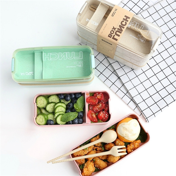 best selling Eco Friendly Lunch Container Bento Box Japanese Style Bento Lunch Box for Kids Storage Food Container Food Box Tuperware Healthy 201210