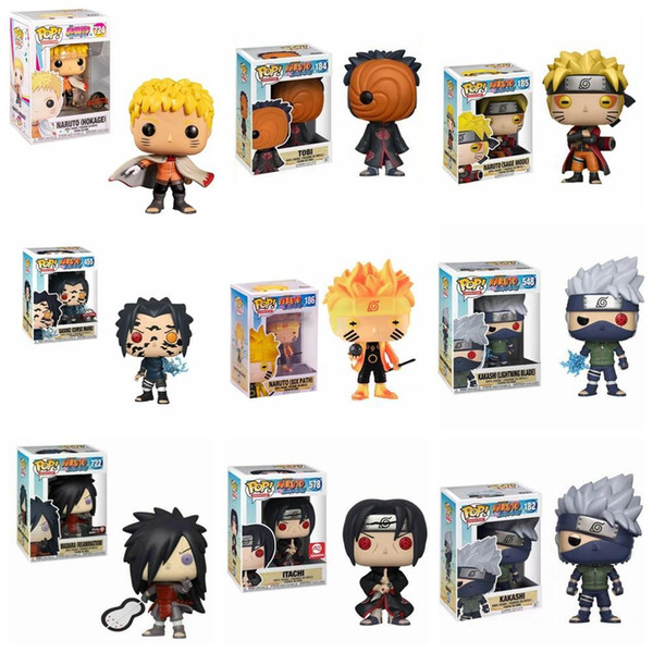 best selling FUNKO POP Naruto Sasuke Kurama mode Kurama Vinyl Action Figure Collection Model Toys For Children Christmas Birthday gift X0121