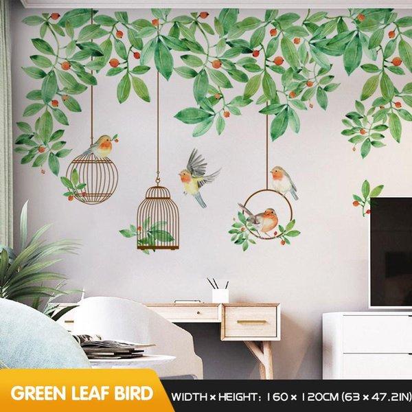 Yeşil yaprak kuş çin XL