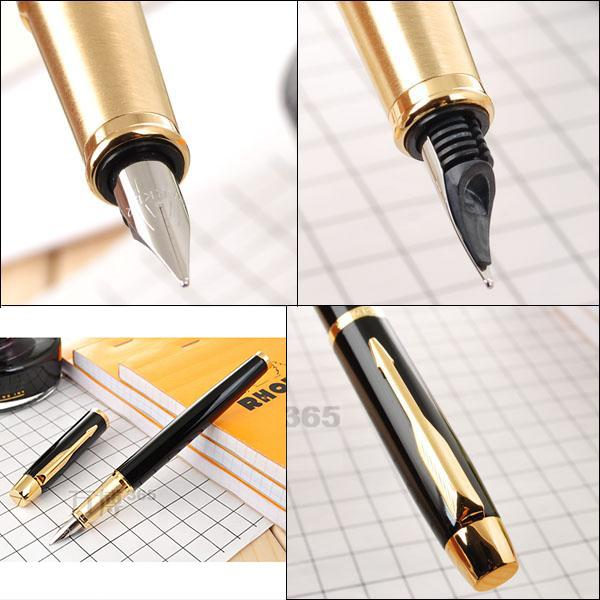 best selling Free Shipping Pen Black fountain Pen School Office Suppliers Signature Pens Excutive Fast Writing Pen Stationery Gift