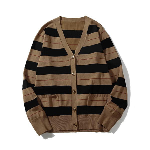 top popular 2020 New winter knitted cardigan men fashion sweater stitching ladies sweater men sweater cardigan size M-XXL 2020