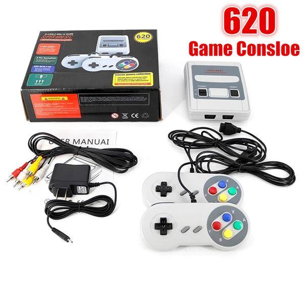 best selling Mini 620 Games in 1 Super NES SNES Mini Retro Classic Game Console Entertainment 620 Game AV Out