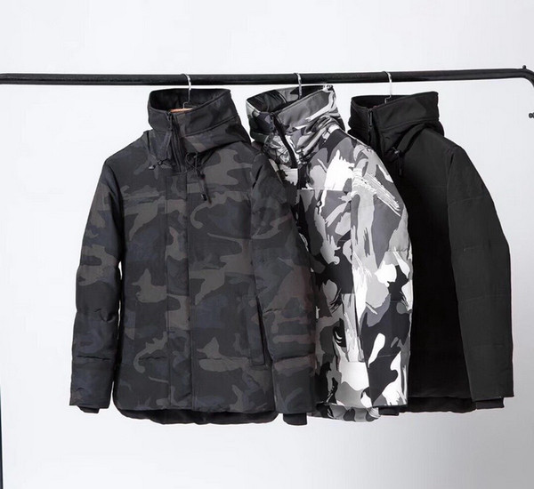 top popular Men Women Winter Down Coat Hooded Puffer Jacket Winter Coat Down Clothes Puffer Jacket Sportwear Outfit Hooded Outfit Running Jacket Outfi-5 2021