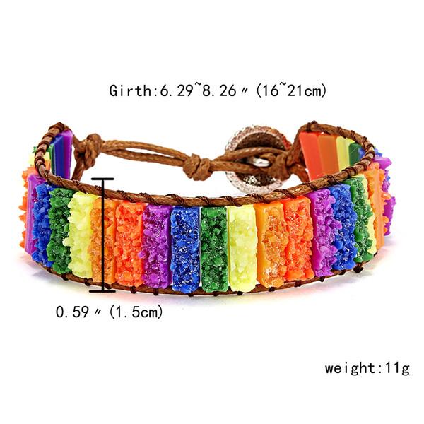 16-21cm color del arco iris