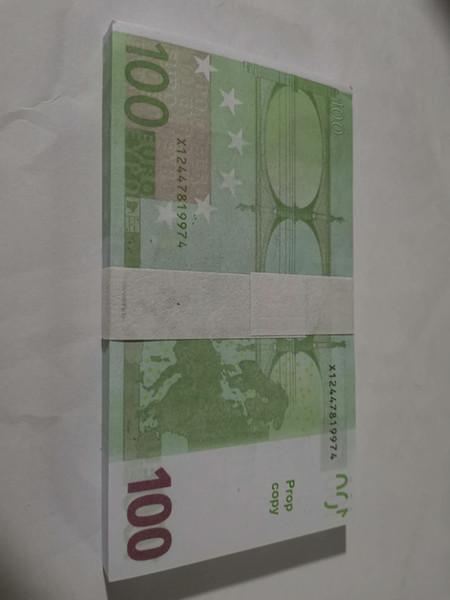 top popular Best Quality Prop euro money billet 10 20 50 100 Euro money billet euro 20 play money dropshipping 2021