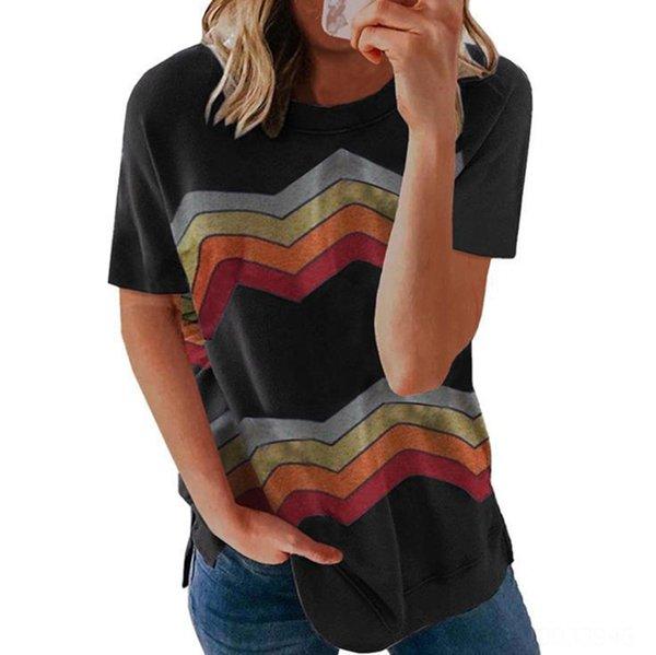 Schwarzes Multicolor-Muster.
