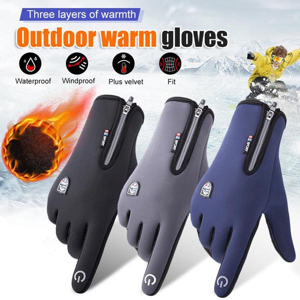 best selling Unisex Heated Winter Outdoor Warm Waterproof Touch Screen Running Moterbike Bike Riding Racing Sports Gloves Polyester Fleece Fingerless