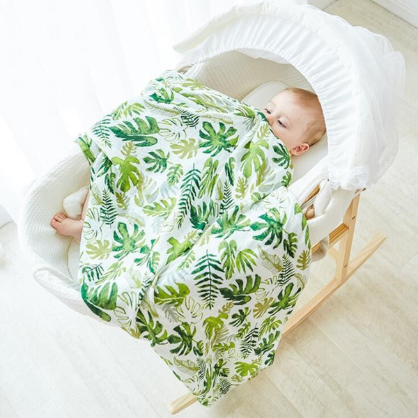 best selling Infant Muslin Blanket Horse Flamingo Animal Baby Swaddle Baby Newborn Bathroom Towels Robes Infant Swadding Muslin Swaddle 120*120cm YL183