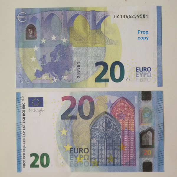 top popular New 10 20 50 100 Euro fake money billet Movie money faux billet euro 20 play Collection and Gifts06 2021