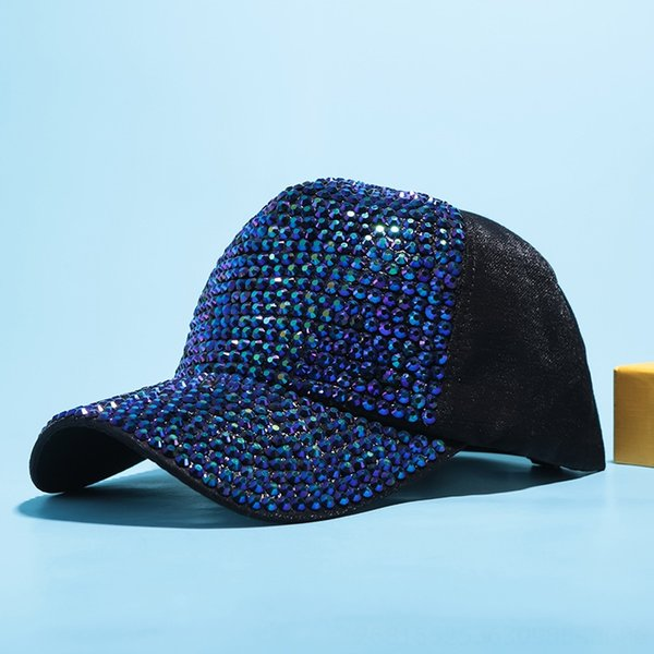 Schwarz + blaue grüne Diamant-Tuch-Kappe