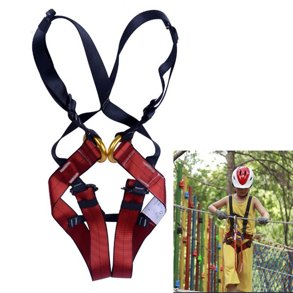 best selling Kids Full Body Tree Rock Climbing Training Harness Rappelling Equipment Fall Protection Harness Seat Belt Q1118