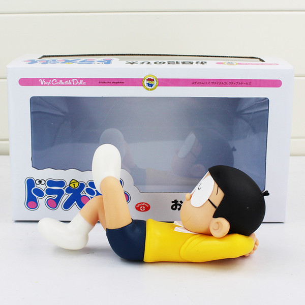 best selling 7''18cm Doraemon Nobita Nobi Action Figures Anime Nobita Vinyl Collectible Dolls Magic Model Kids Toys Kawaii Baby Toys with Box X0121