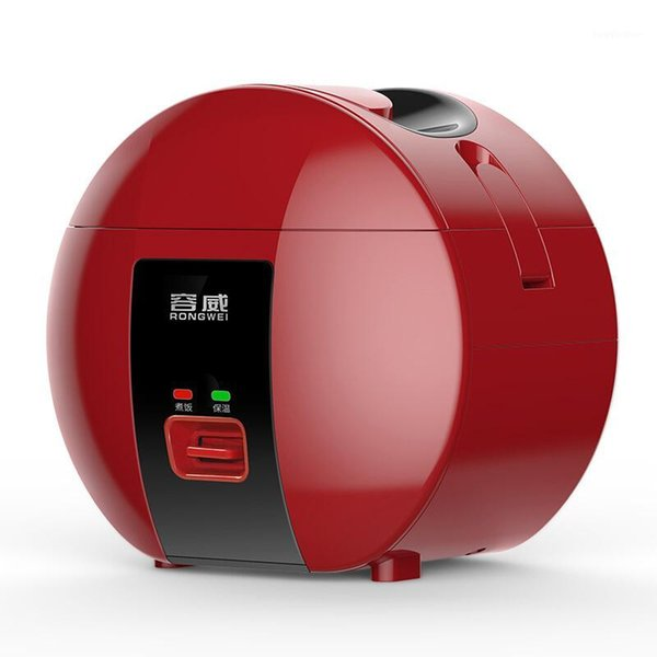 top popular Best Rice Cooker with Reservation insulation Function Mini Electric Rice Cooker for Student Dormitory1.8L for 1-3 People Red1 2021