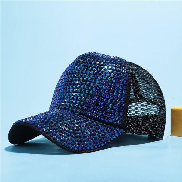 Black + Blue Green Diamond Net Cap