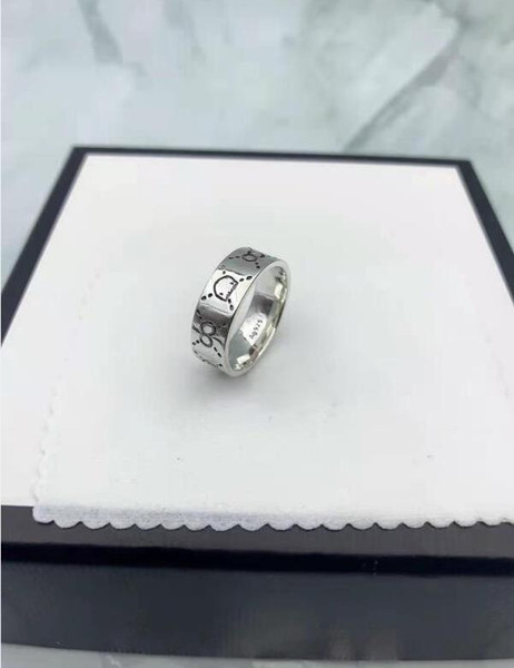 top popular 2021 wholesale love ring mens rings 925 sterling silver rings mens rings wedding rings sets women rings heart ring silver ring with box 2021
