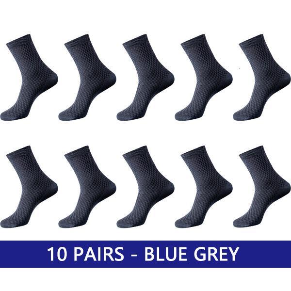 10 Paar blau grau