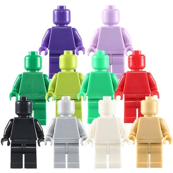 top popular *blank Minifigs without print* 20 pcs DIY enlighten block bricks,Compatible With Other Assembles Particles Q1217 2021