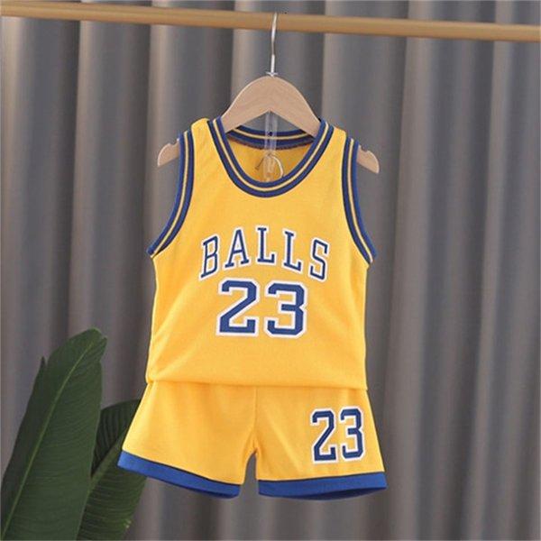 Gelber Gy Wege Basketball Anzug-80