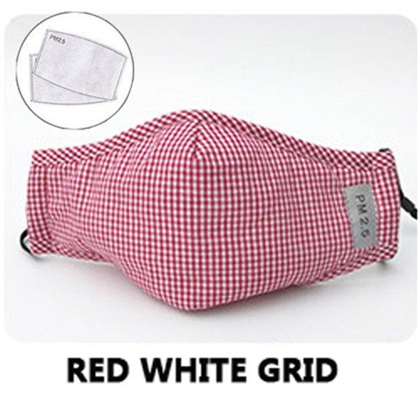 Pink White Grid