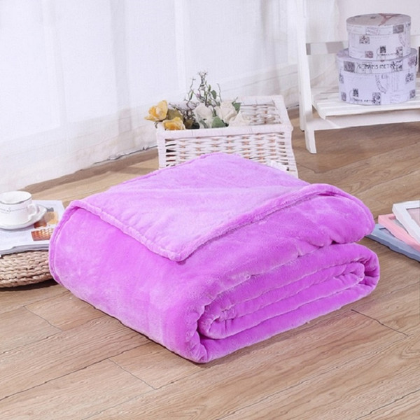 best selling Warm Flannel Fleece Blankets Soft Solid Blankets Solid Bedspread Plush Winter Summer Throw Blanket for Bed Sofa CCE4043