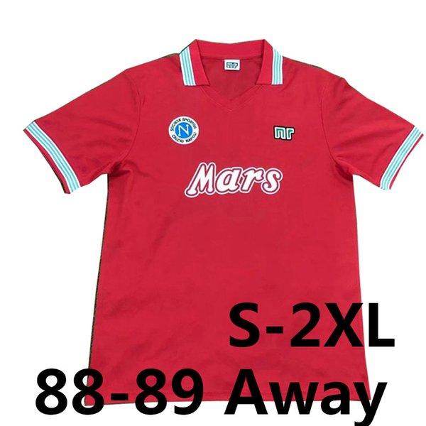 Retro 88-89 Napoli dritter rot