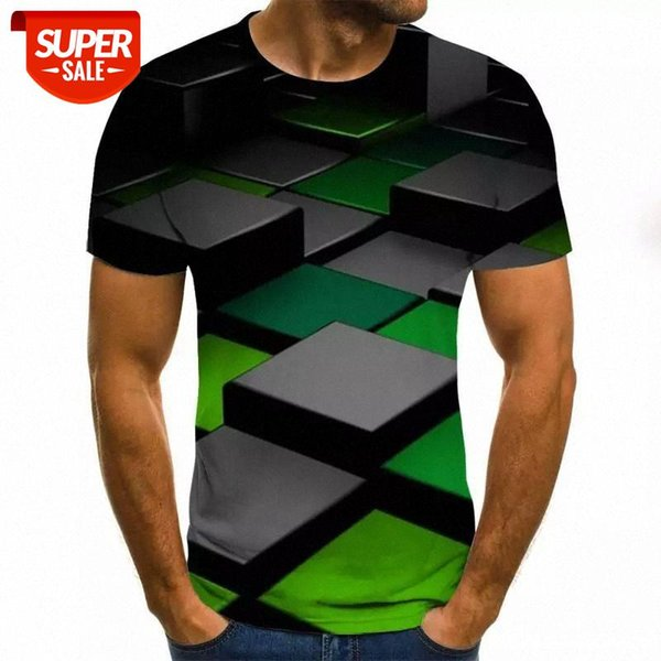 best selling Three-dimensional vortex men's T-shirt 3D printing summer O collar daily casual funny T-shirt fashion men and women #zC6l