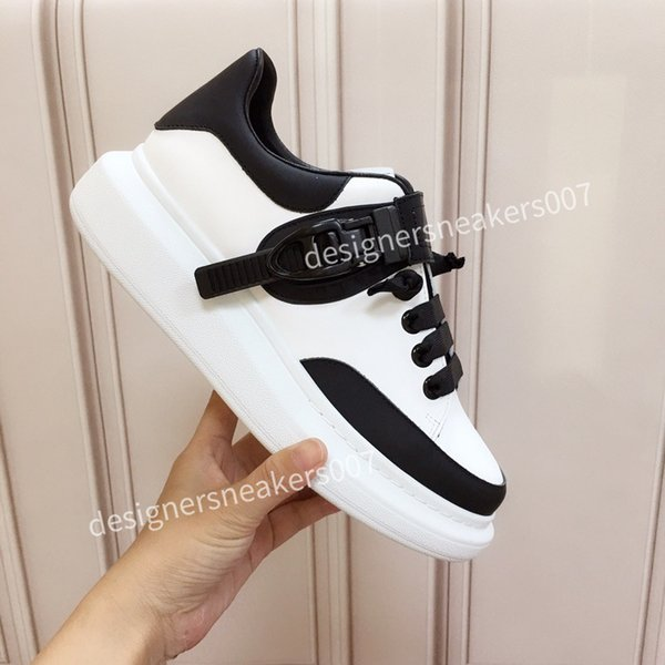 top New arrival Casual Shoes White Black Red Fashion Mens Women Leather Breathable Shoes Open Low sports Sneakers hc191003