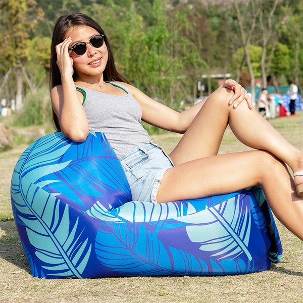 best selling Portable Inflatable Sofa Outdoor Air Sofa Lounger Waterproof Lazy Sofa Inflatable Chair for Camping Beach Garden Home Furniture 2020