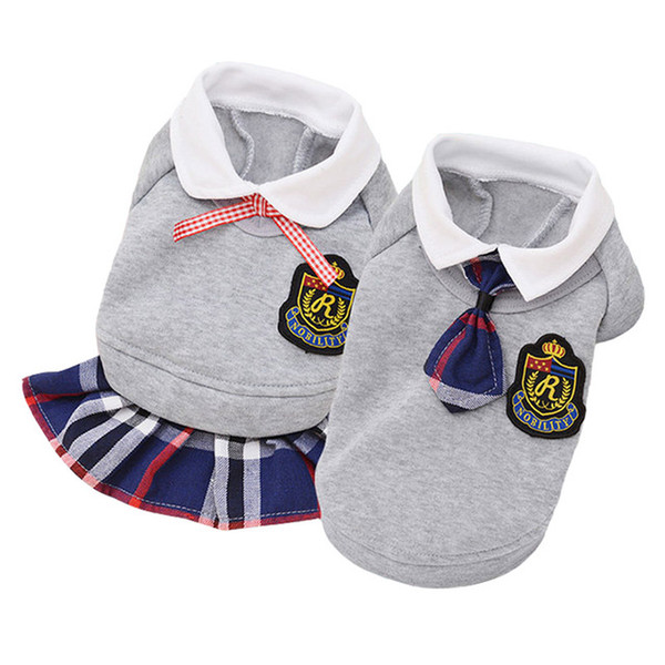 Discount matching couple outfit Supplies Dog Coats & Jackets Couple Dog Clothes Matching Clothes Pet Uniforms Cotton Puppy Outfit Spring Autumn Pet Clothing