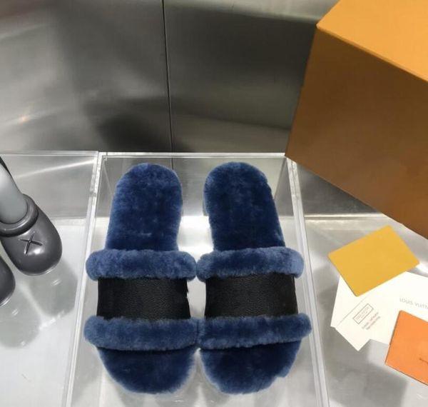 top popular Original Top Quality Rabbit Fur Leather Slippers Hot Winter New Fashion Women Ladies Warm Sandals Home Shoes Flip Flop 2021