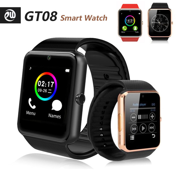 top popular GT08 Bluetooth Smart Watches with SIM Card Slot For Android NFC Health X6 X7 T500 T500+ M16 plus HW12 HW16 HW22 FK88 Watch series 5 6 Smartwatch 2021