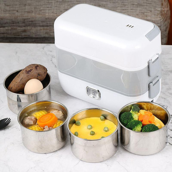 best selling Electric Heating Lunch Box Mini Soup Stew Pot Rice Cooker Ceramic Meal Container Bento Lunchbox Porridge Warmer Heater1