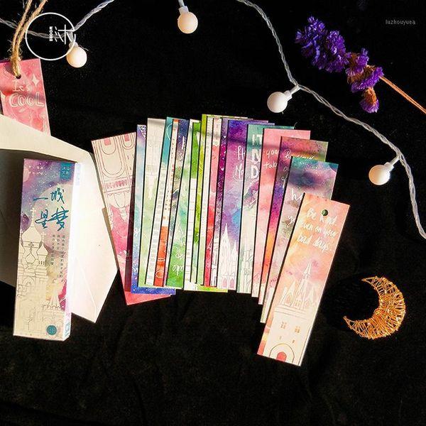 top popular 30 Pcs lot Creative City dream Paper Bookmark Books Clip School Supplies Accessories Stationery Bookmarks1 2021