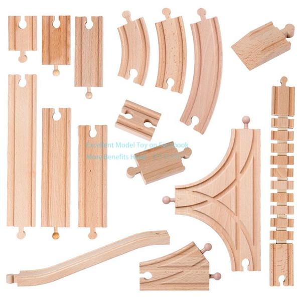 top popular Wooden Train Tracks DIY Assembly Building Blocks Toy, Compatible with TOM Trains, Straight& Curved Track, 50 Styles, for Christmas Kid Gift 2021