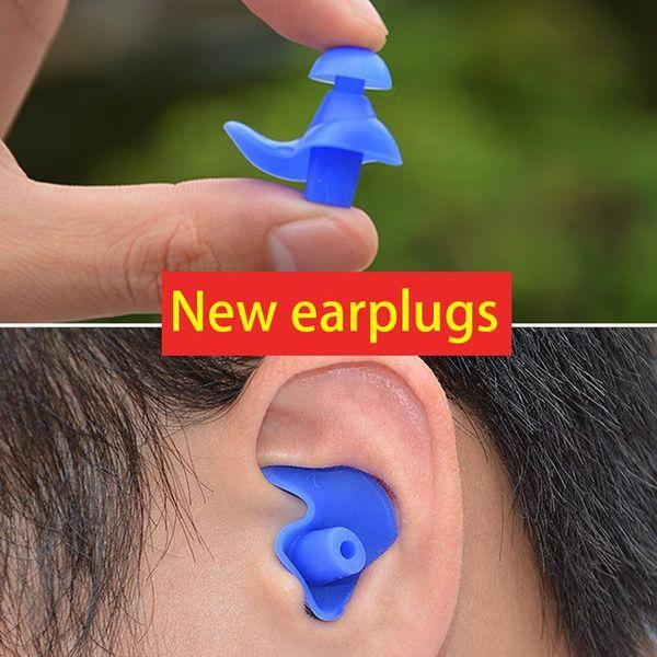 top popular 10pcs Ear-Type Soft Silicone Swimming Waterproof Earplug Swimming Earplug Adult Children Silicone Accessories 2021
