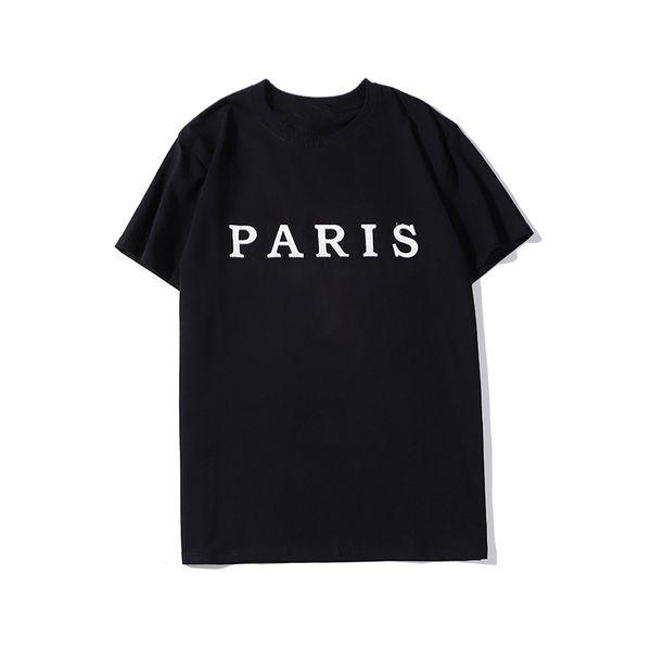 best selling luxury Designer printed t shirts fashion personality men design shirt women t-shirt high quality black and white S-XXL