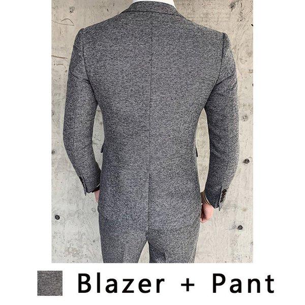 Серый пиджак и брюки
