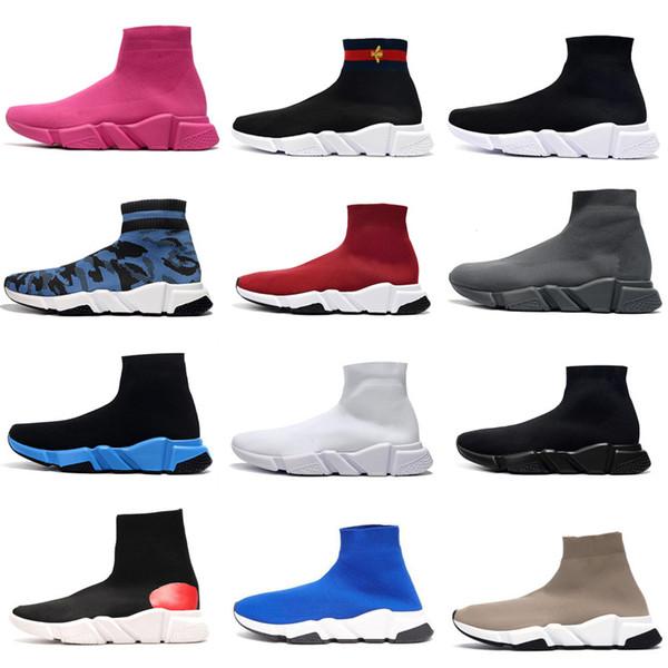 top popular 2021 Speed trainer 1.0 sock sports men women boot socks shoe fashion casual shoes tripler designer sneakers boots 36-45 2021