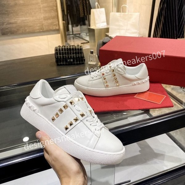 2021the new Mans Casual Shoes Fashion Mens Women Leather Breathable Shoes Open Low sports Sneakers yh200906