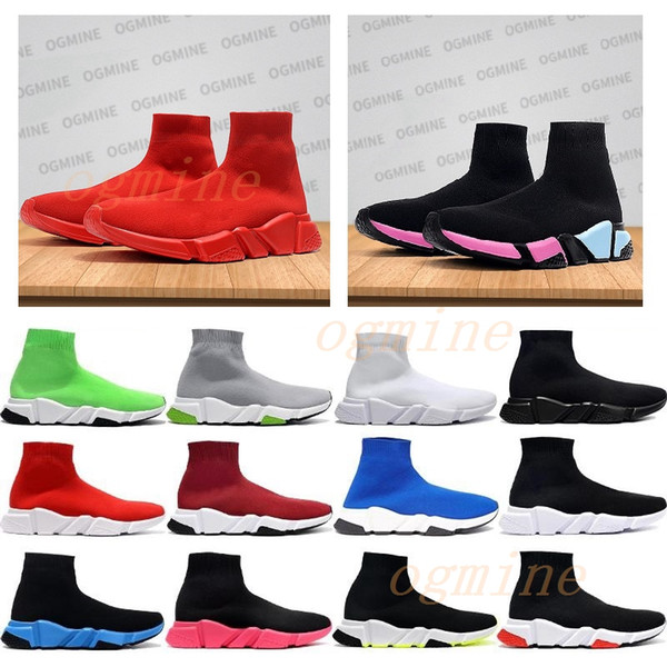 top popular [Shipped ASAP] designer men womens speed trainer sock boots socks boots casual shoes shoe runners runner sneakers 36-45 #2021# 2021