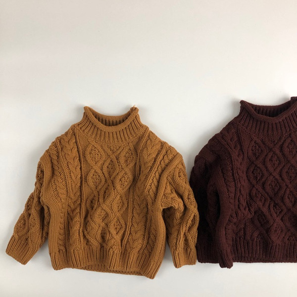 top popular WD INS Newest Koren Quality Pullover Kids Girls Boys Knitted Sweaters Winter Unisex Children Sweater 1-6 Years 2021