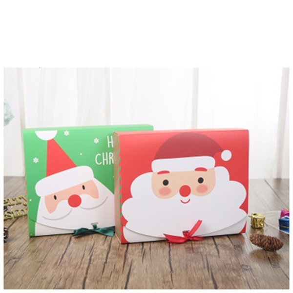 vjqcfairy santa christmas eve & big gift design papercard kraft present party favour activity box red green eea684-a