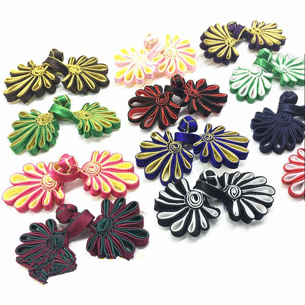 top popular 10 Pairs chinese frog closure knot fastener buttons handmade Cheongsam Tang Suit wedding invitation button accessories 2021