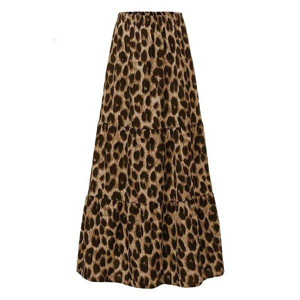 Estampado de leopardo marrón