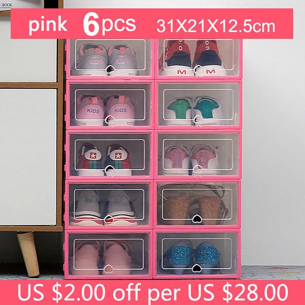 31x21x12.5cm Pink6pc