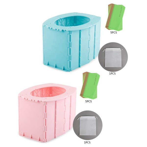 top popular Child Kids Foldable Training Travel Toilet Portable Folding Potty Seat Baby Infant Emergency Potties LJ201110 2021