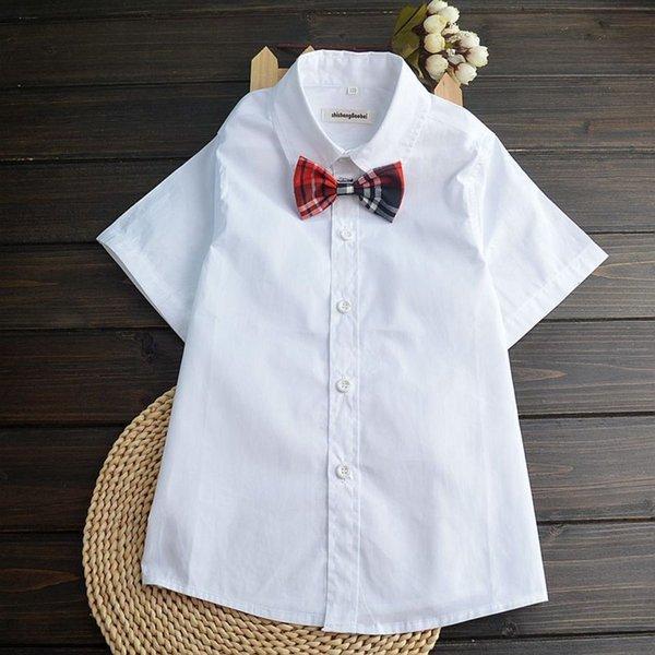 Cravate à bow à plat + rouge